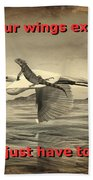 Iguana With Wings Bath Towel