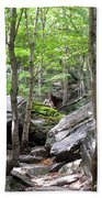 Image Included In Queen The Novel - Rocks At Smugglers Notch Bath Towel
