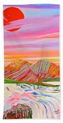 My Imagination Of China's Vast Rainbow Mountains Bath Towel