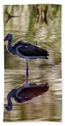 Immature White Ibis At Sunrise Bath Towel