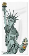 Immigration And Liberty Bath Towel