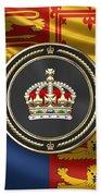 Imperial Tudor Crown Over Royal Standard Of The United Kingdom Bath Towel