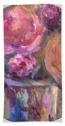 Impressionist Floral Art Bath Towel