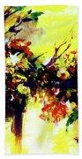 Impressionist Flowers #112, Bath Towel