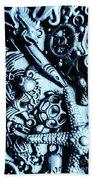 In Blue Nautilus  Hand Towel