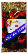 In Remembrance 5th Battalion Bath Towel