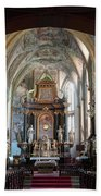 In The Gothic-baroque Church Bath Towel