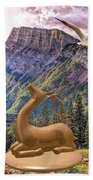 In The Mountains Bath Towel
