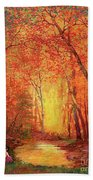 In The Presence Of Light Meditation Hand Towel