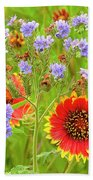 Indian Blanketflowers Gaillardia Puchella Bath Towel