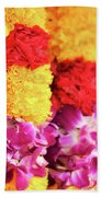 Indian Flower Garland Bath Towel