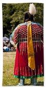 Indian Nation Pow Wow Dancers Bath Towel