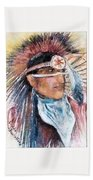 Indian Portrait Bath Towel