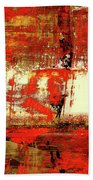 Indian Summer - Red Contemporary Abstract Bath Towel