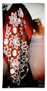 Indian Woman In Red- Vignette Bath Towel