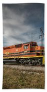 Indiana Southern Railroad Locomotives At Edwardsport Indina Bath Towel