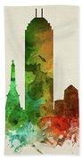 Indianapolis Skyline Panorama Usinin-pa03 Bath Towel