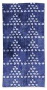 Indigo Triangles- Art By Linda Woods Bath Towel by Linda Woods