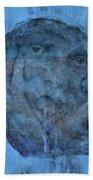 Indistincint Blues Bath Towel