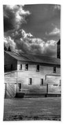 Industrial Landscape In Black And White 1 Bath Towel