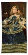 Infanta Margarita Teresa In A Blue Dress Bath Towel