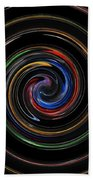 Infinite, Ever Expanding Image. Colorful And Classic Spiral Digital Art That Can Enhance Your Mood. Bath Towel