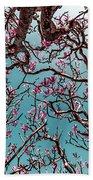 Infrared Frangipani Tree Bath Towel