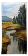 Inlet In Indian Lake Hand Towel