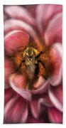 Insect - Bee - Center Of The Universe  Bath Towel