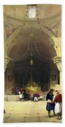 Inside The Church Of The Holy Sepulchre In Jerusalem Bath Towel