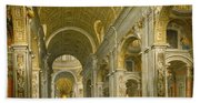 Interior Of St. Peter's - Rome Hand Towel