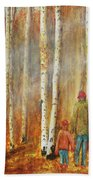 Into The Misty Autmun Woods Hand Towel