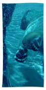 Into The Wild Blue Bath Towel