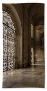 Intricate Ironwork - Lacy Wrought Iron Gates Bath Towel