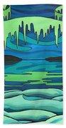 Inuit Love Arctic Landscape Painting Bath Towel