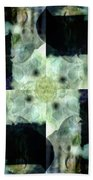 Invented Places, Mandala Series, Path With Flowers Bath Towel