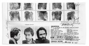 Investigator's Copy - Ted Bundy Wanted Document  1978 Bath Towel