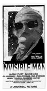 Invisible Man Movie Poster 1933 Bath Towel