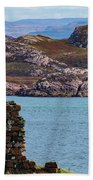 Iona Ruins And Mull Hills Bath Towel