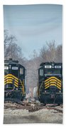 ioneer Lines PREX 912 and 806 at Evansville Indiana Bath Towel