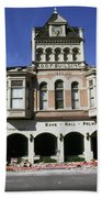 Watsonville I. O. O. F. Building Built In 1893  Damaged By The Loma Prieta Earthquake 1989 Bath Towel