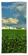 Iowa Soybean Farm Bath Towel