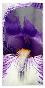 Iris Close-up Bath Towel