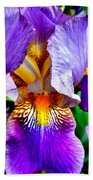 Iris In Bloom Bath Towel