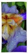 Iris Rain Blue Bath Towel