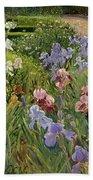 Irises At Bedfield Bath Towel