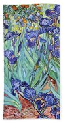 Irises Bath Towel