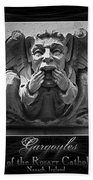 Irish Gargoyles Triptych Bath Towel