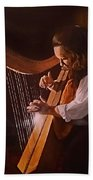 Irish Harp Bath Towel