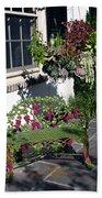 Iron Garden Bench Bath Towel